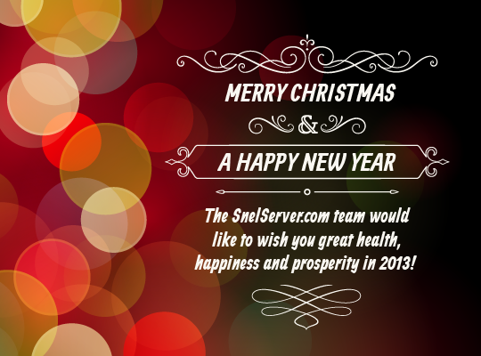 Merry Christmas and Best Wishes For 2013! | Snel.com