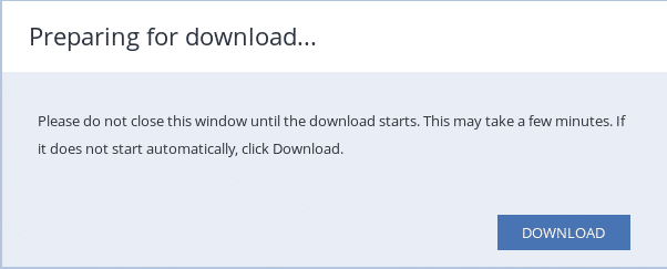 Download a complete backup from Acronis Management Console - 10