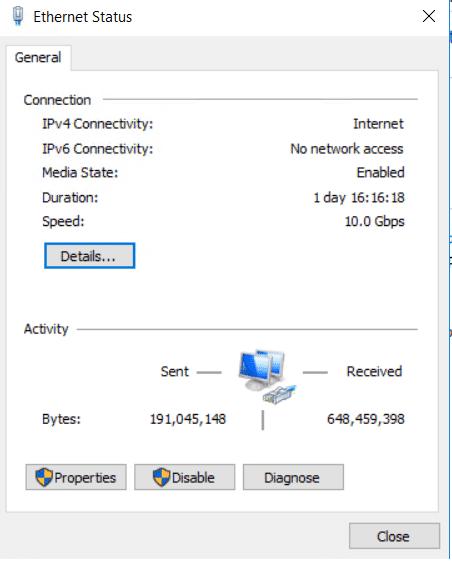 Ethernet Status