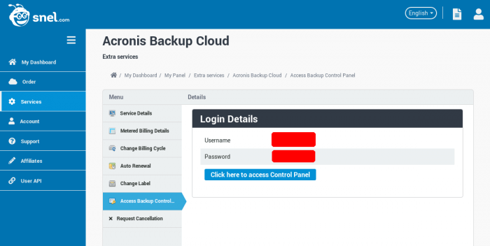 How to setup scheduled backups through Acronis Backup Cloud Management Console - 01