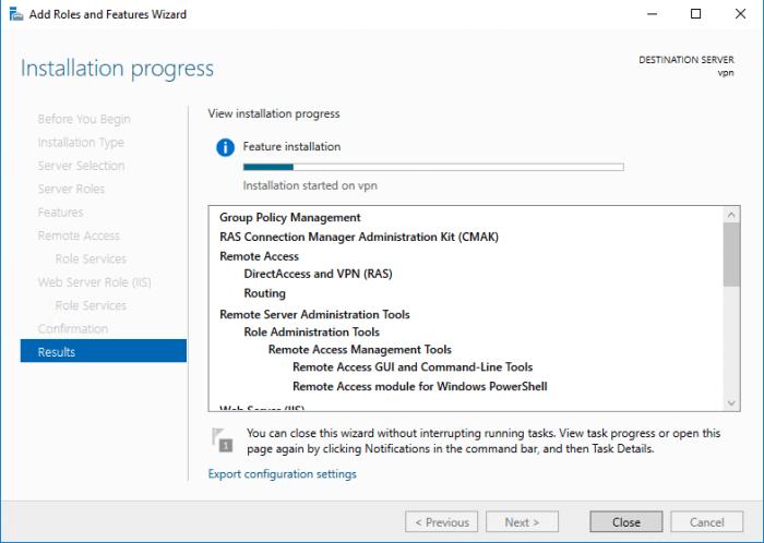Windows Server 2016 install pending