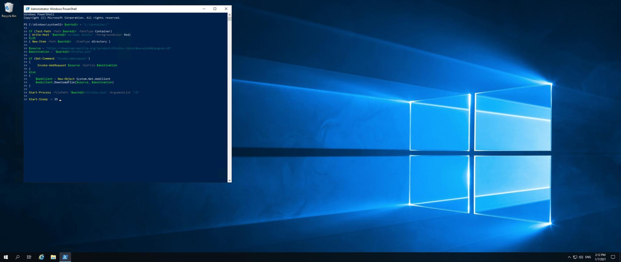Install Firefox in Windows Server using Powershell   Snel.com