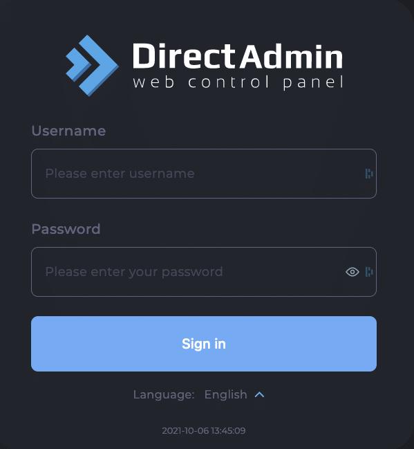 directadmin login