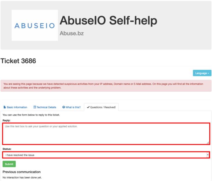 abuseio resolve