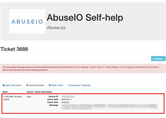 abuseio technical details
