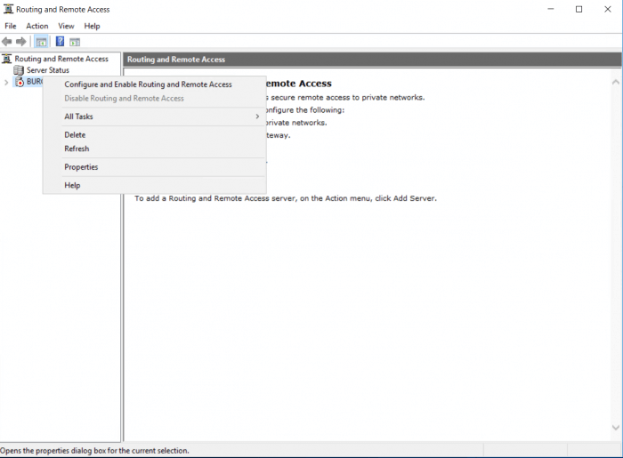 configure and enable routing