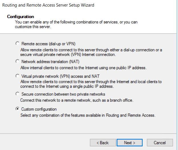 access setup wizard
