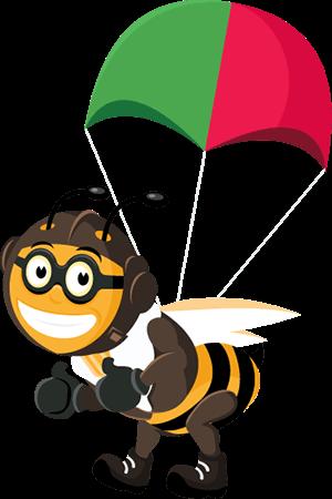 bee-parachute