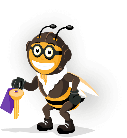 bee-with-key