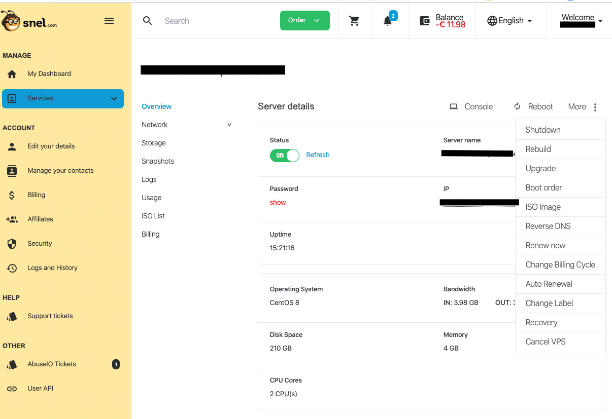 clientarea-servermanagement