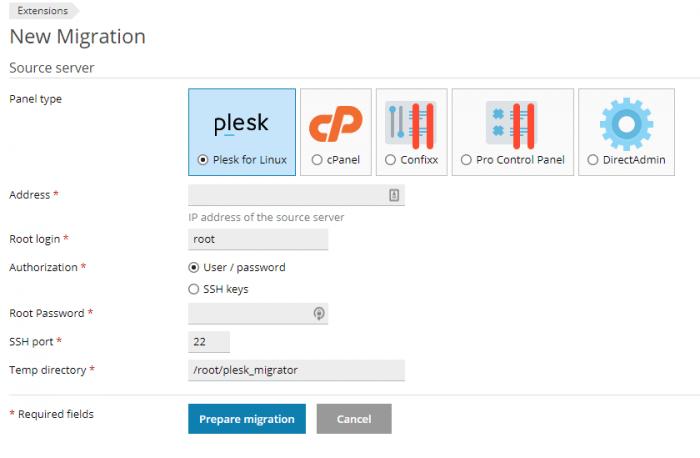 plesk migration tool