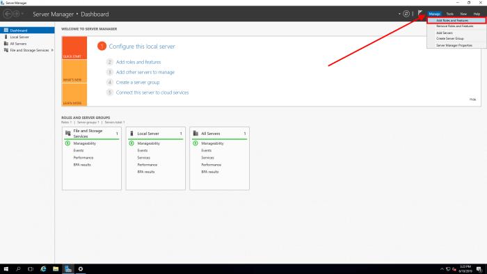 windows 2016 server manager