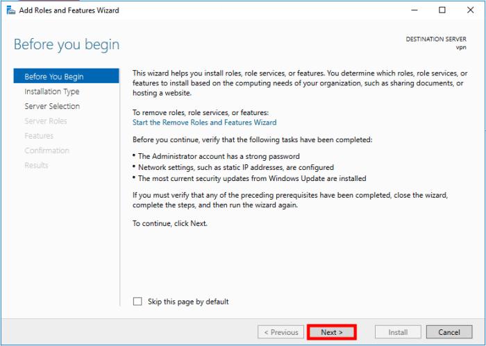 windows server 2016 add role