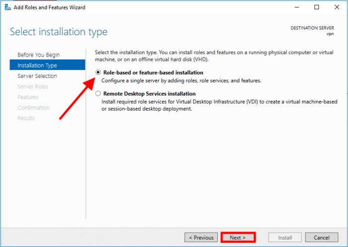 windows server 2016 role based
