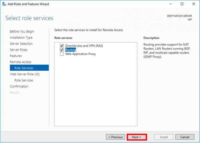 windows server 2016 ras list