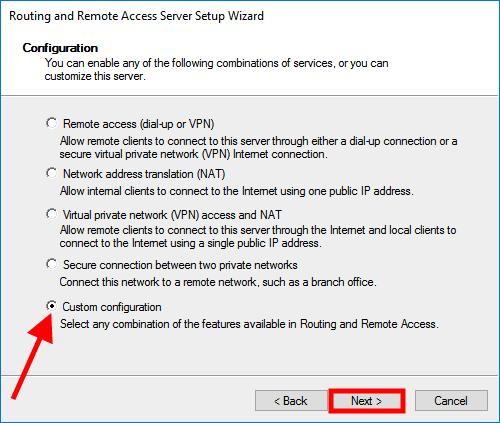 windows server 2016 custom
