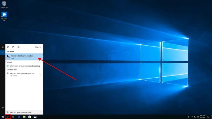 windows 10 rdp