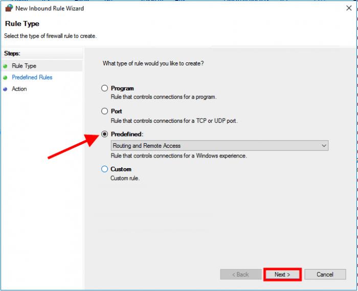 windows server 2016 predfined