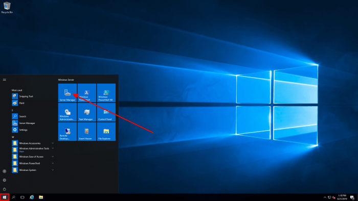 windows server 2016 manager