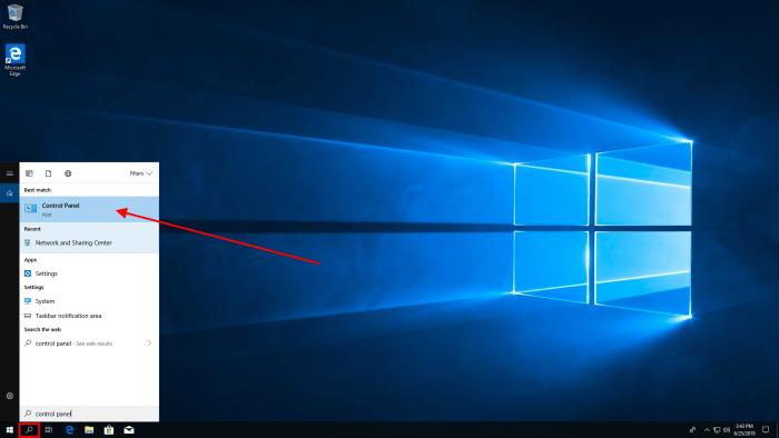 windows 10 searchbar
