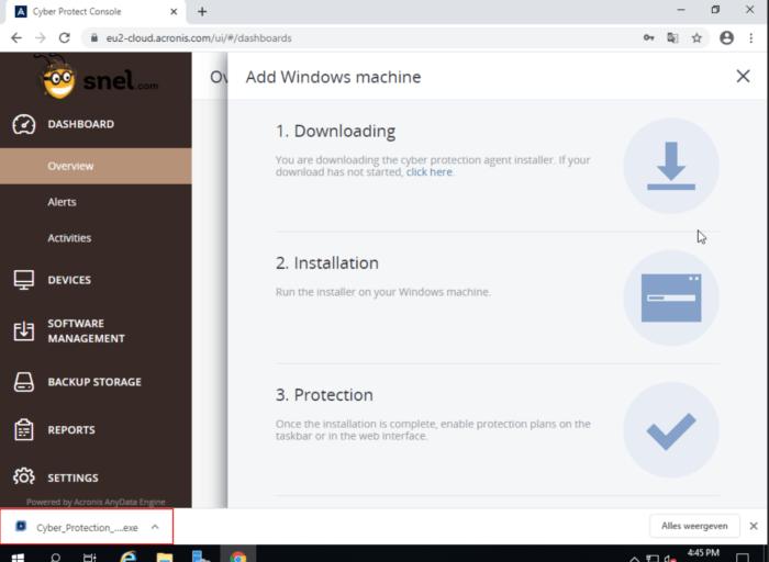 Acronis start download