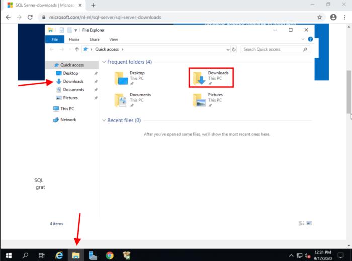 Windows Server Download folder