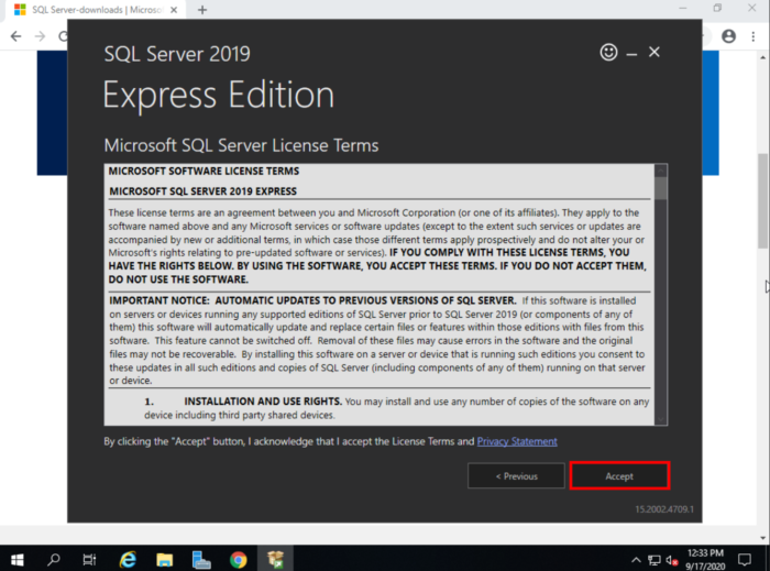 MSSQL download terms