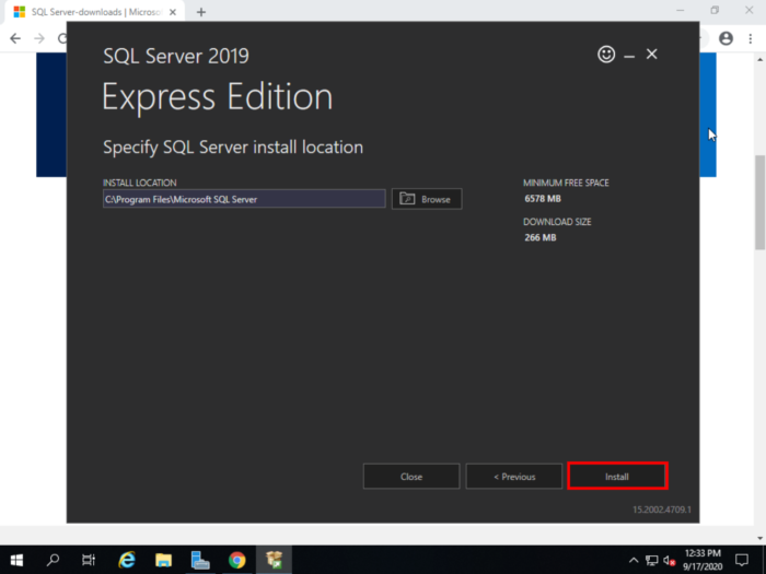 MSSQL install location