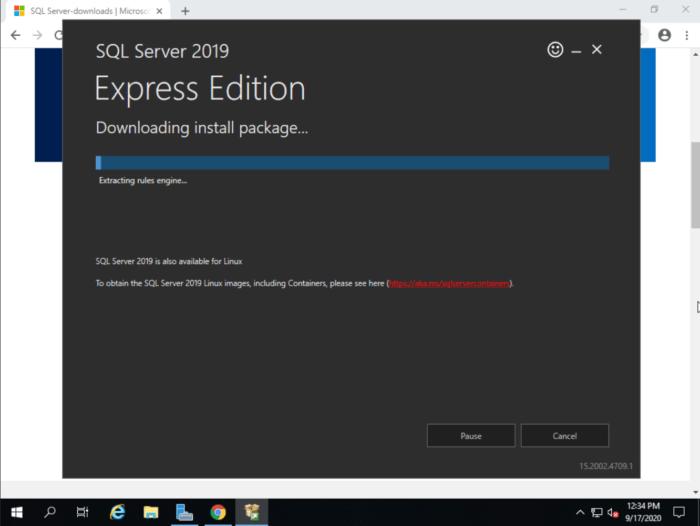 MSSQL installation