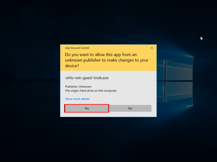 Windows Permission for changes