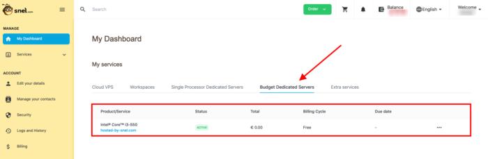 select budget server