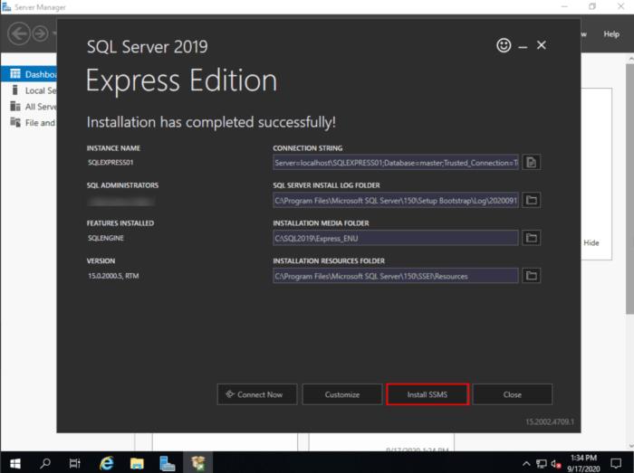 MSSQL download done