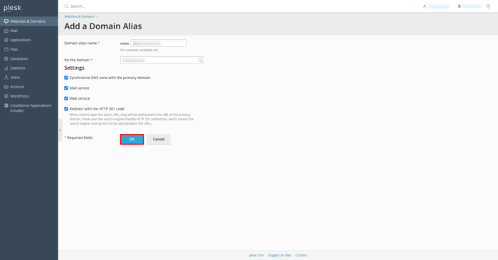 adding domain alias