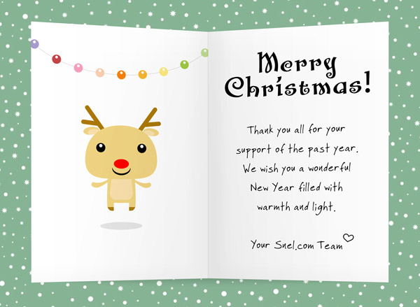 merry christmas and best wishes for 2014 snelcom kerstkaart - Best Wishes For Christmas